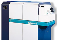 Thermo Scientific Element 2 high resolution, double focusing magnetic sector field ICP-MS.